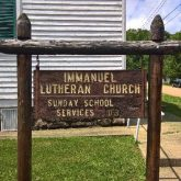 Immanuel Lutheran sign
